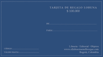 Tarjeta de regalo $100.000: https://bit.ly/2E6AAwe