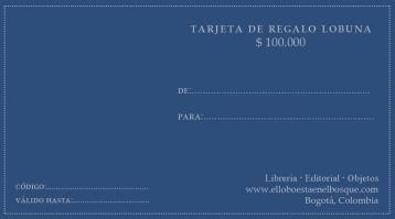 Tarjeta de regalo $100.000: https://bit.ly/2sE0Qua