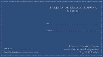 Tarjeta de regalo $300.000: https://bit.ly/2rVIaGk