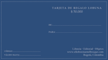 Tarjeta de regalo $50.000: https://bit.ly/2rrriU5