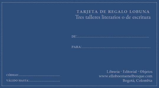 Tres talleres literarios o de escritura: https://bit.ly/2Q43662